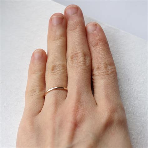 Dainty 9k Rose Gold Wedding Band ? Anna Rei Jewellery
