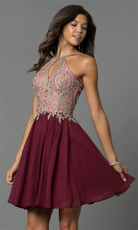 Junior Size Homecoming Dress with Jewels   PromGirl