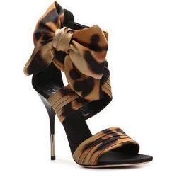 Giuseppe Zanotti Leopard Satin Bow Sandal
