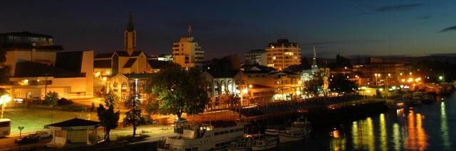 VIlle de Valdivia de nuit