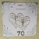 Handmade Platinum Wedding Anniversary card Happy 70th