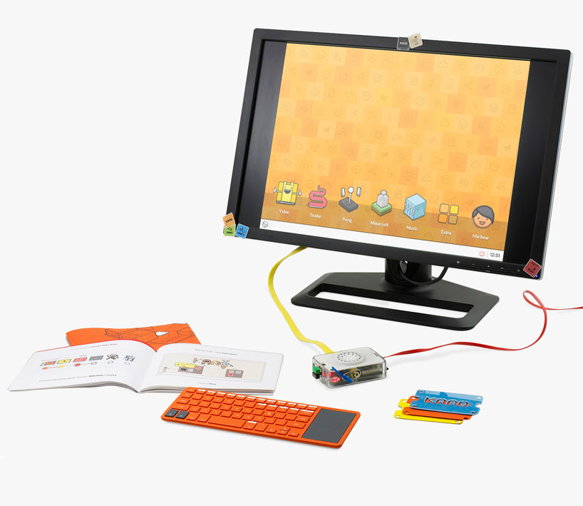 kano DIY computer kit by MAP project office uses raspberry pi