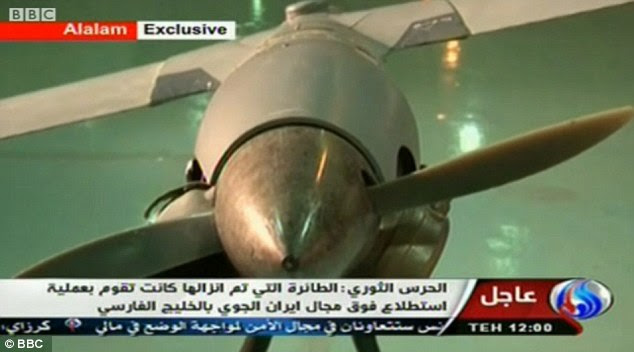 Shockwaves: Claims that the Iranian Arms had managed to create its own squadron of drones based on technology copied from a 'downed' U.S. spy plane is likely to cause acute embarrassment for the Americans