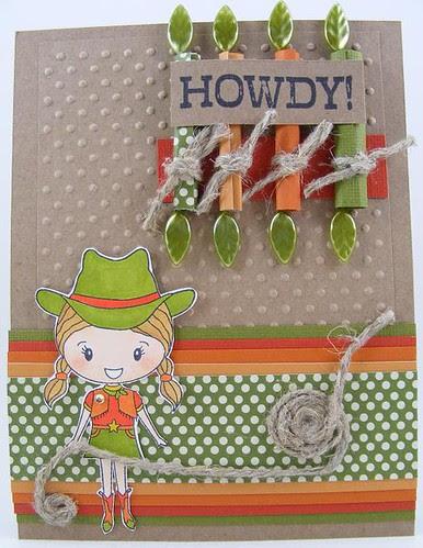 Howdy Cowgirl Card
