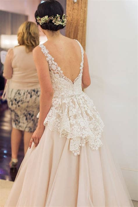 Best 20  Peplum wedding dress ideas on Pinterest   Peplum