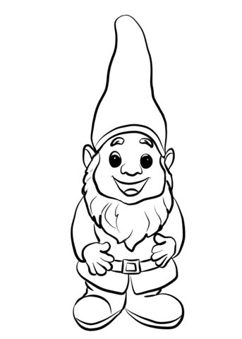 cute gnome coloring page  free printable coloring pages