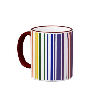 Double Rainbow Barcode mug