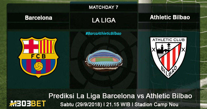 Prediksi La Liga Barcelona vs Athletic Bilbao 29 September ...