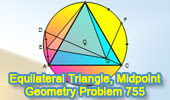 Equilateral triangle, Circumcircle, Midpoint
