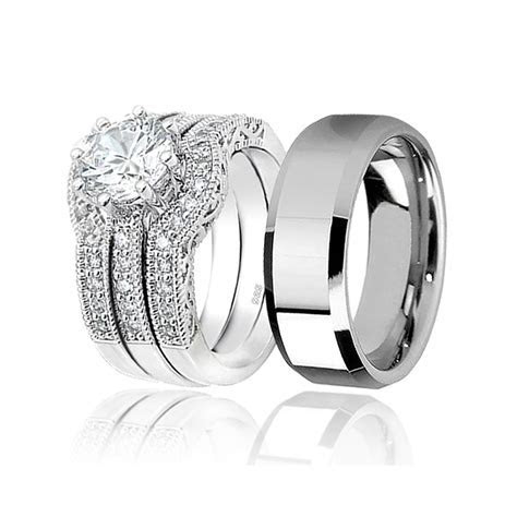 Awesome men and women matching wedding bands   Matvuk.Com