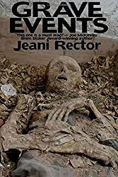 Grave Events book cover with photo of aged human corpse.