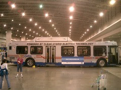 Hybrid Metro Bus at Green Festival