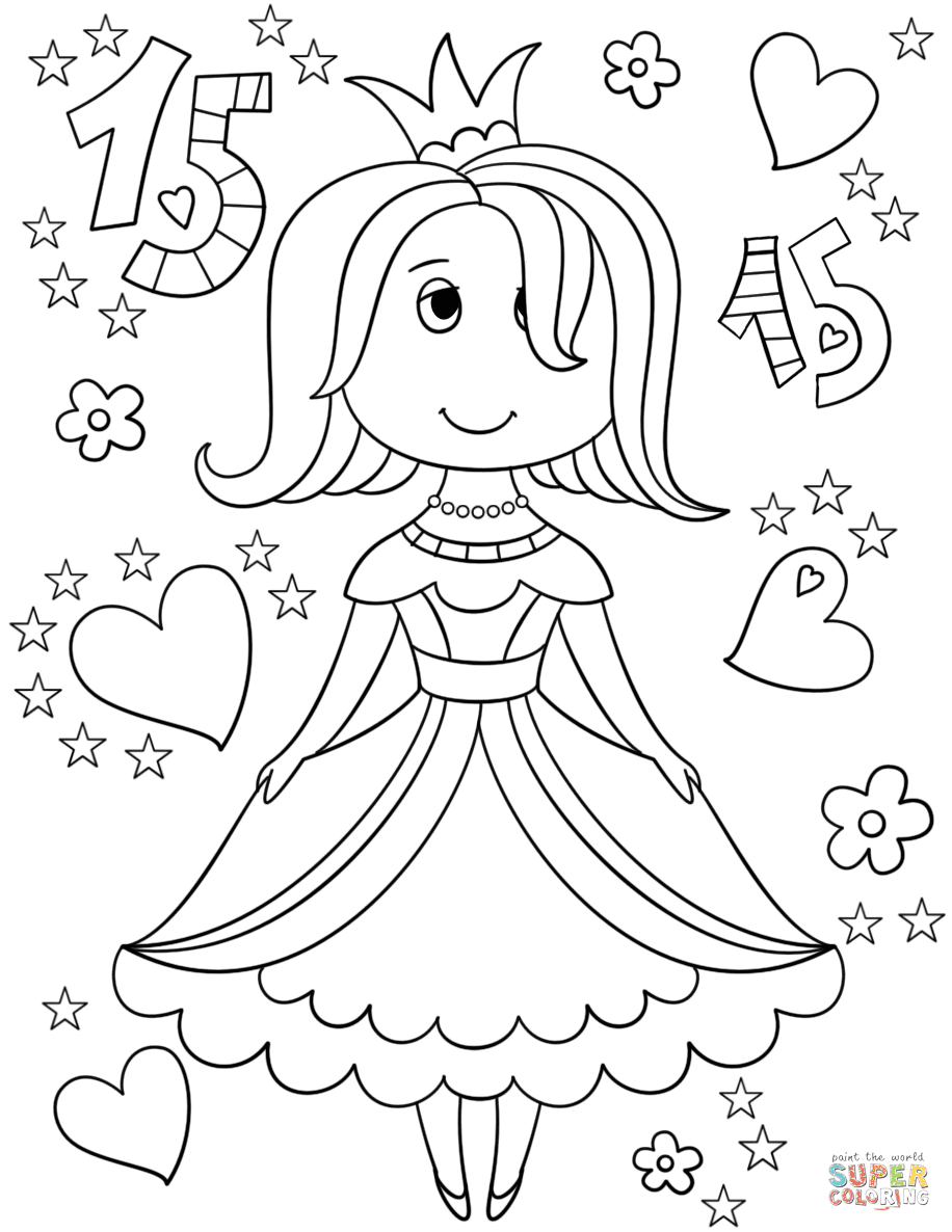 Quinceanera Coloring Page Free Printable Coloring Pages