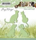 ADD10023 Snijmal Amy Design Animal Medley Cats and Dogs