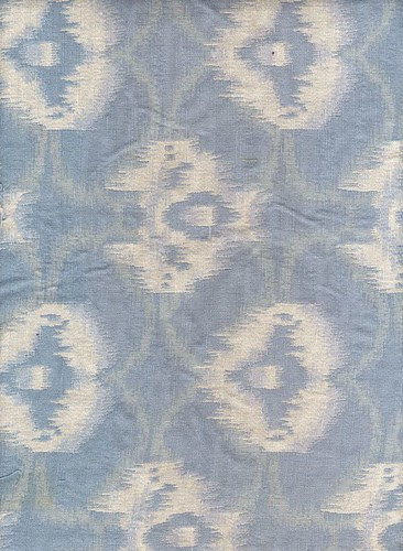 Blue & white woven - ikat-like