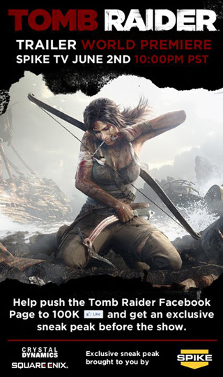 Visit the official Tomb Raider Facebook page