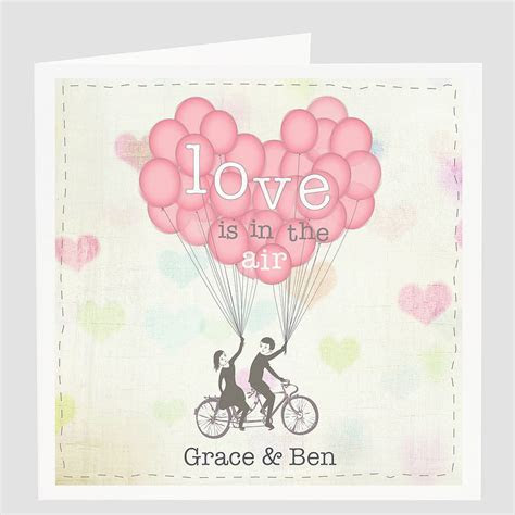 personalised 'love is in the air' card by violet pickles