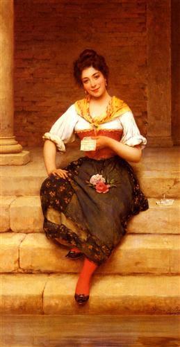 The Love Letter - Eugene de Blaas