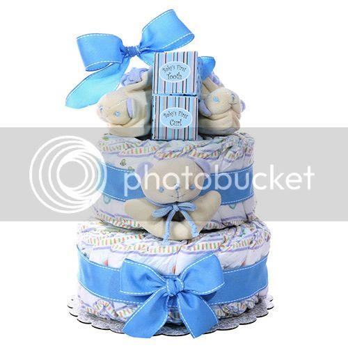 Boy's Two-Tier Diaper Cake