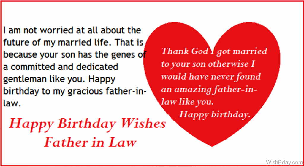 42 Father In Law Birthday Wishes