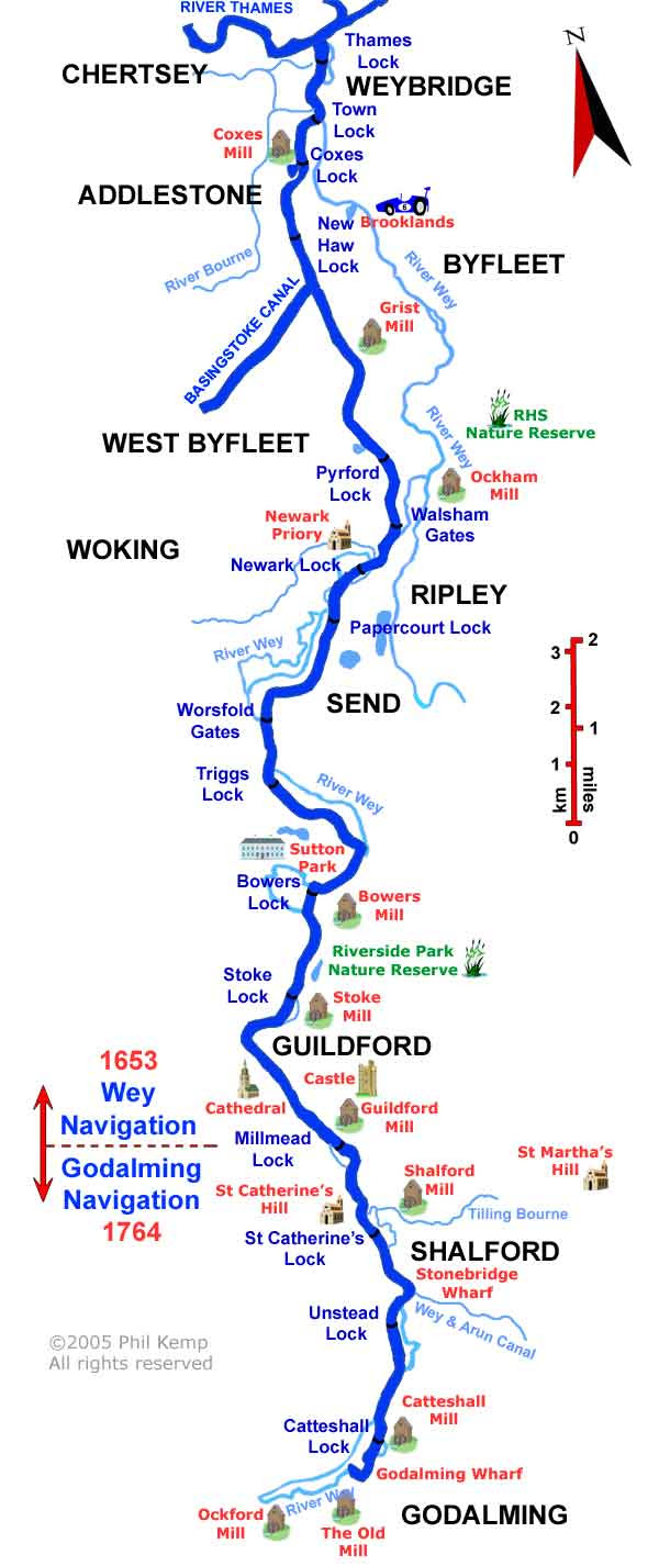 INTERACTIVE MAP OF WEY NAVIGATIONS