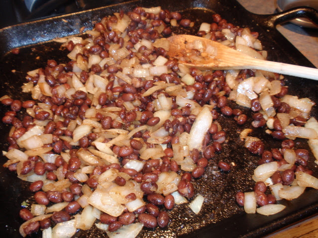 add black beans and lime juice