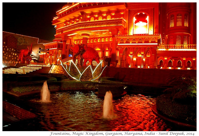 Most beautiful fountains - Gurgaon, India - Images by Sunil Deepak
