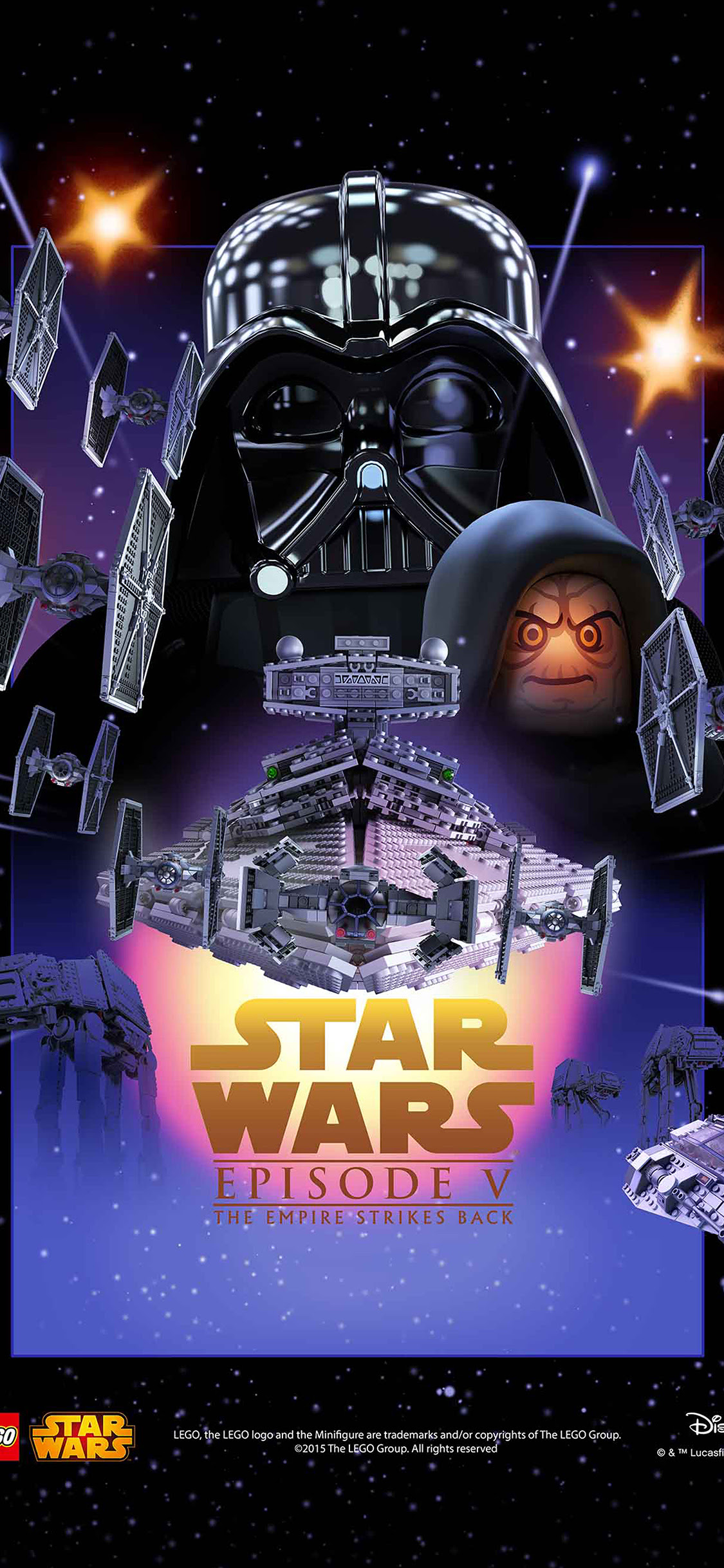 Iphone11papers Com Iphone11 Wallpaper Ap23 Starwars Lego Episode 5 Empire Strikes Back Film Art