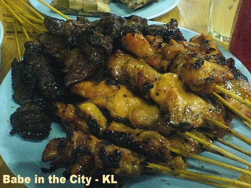 OM - beef n chic satay close up