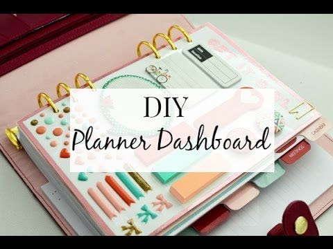 How To: Make A Dashboard For Your Erin Condren Life Planner ...