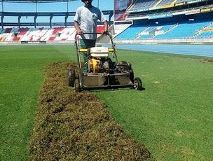 Botafogo começa a trocar o gramado do Engenhão (Foto: Divulgação/BFR)