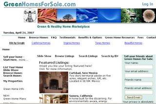 Green Homes 4 Sale Website