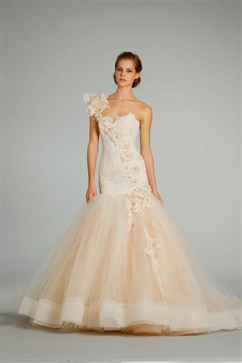 fall 2012 wedding dress Lazaro bridal gowns 3259 peach