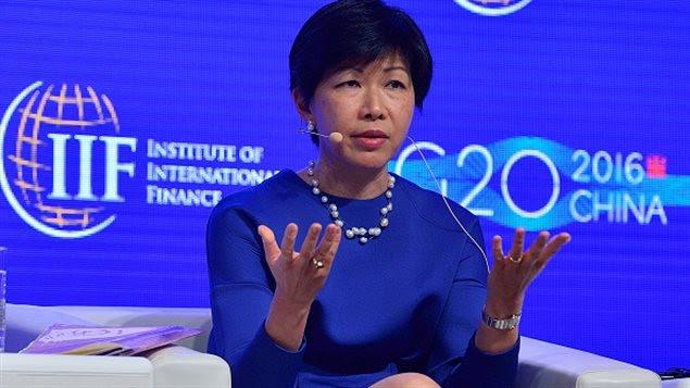 L'économiste Kathy Matsui à Shanghai en février 2016
