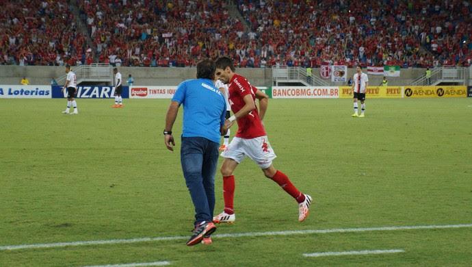 Rodrigo Pimpão e Marcelo Martelotte - américa-rn (Foto: Augusto Gomes/GloboEsporte.com)