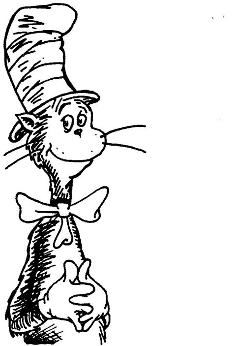 adult printable cat   hat coloring pages  kids