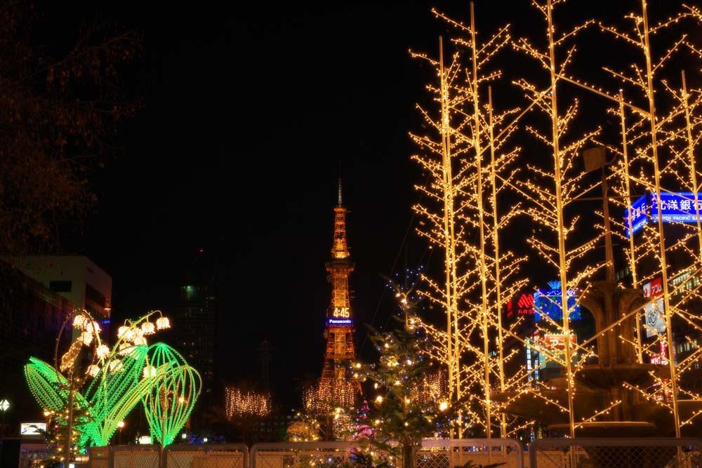 ゆんフリー写真素材集 No 4063 クリスマスイルミネーション 日本