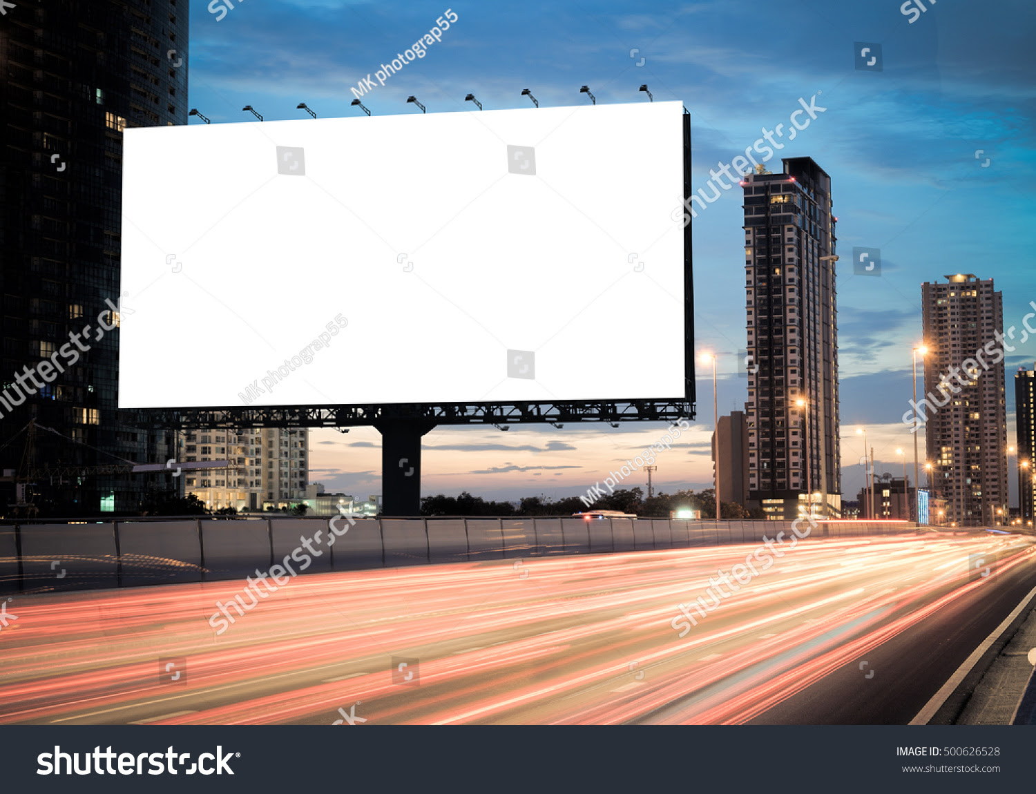 Advertising Concept Blank Template Outdoor Advertising Stock Photo ...