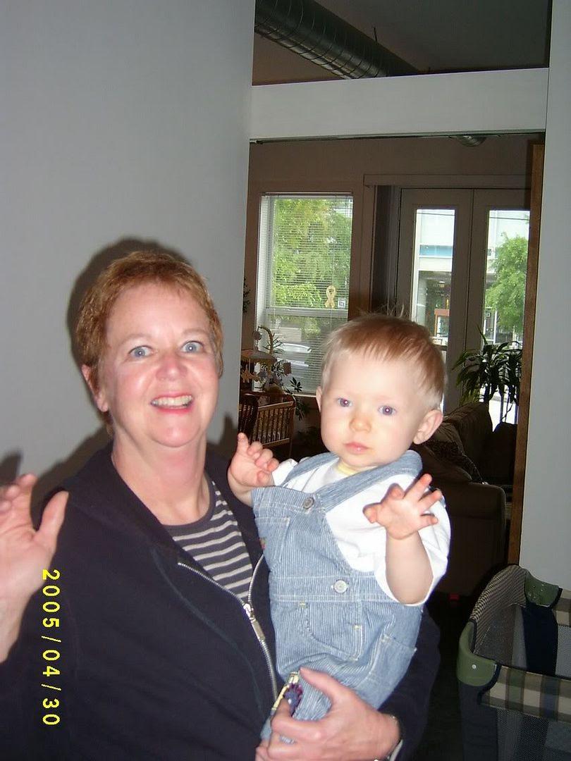 G&Grandma waving