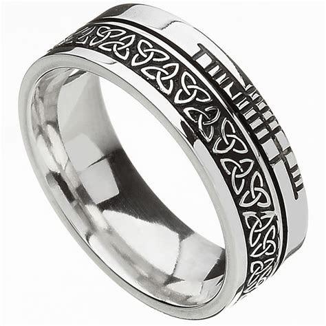 Celtic Ring   Comfort Fit 'Faith' Trinity Knot Irish