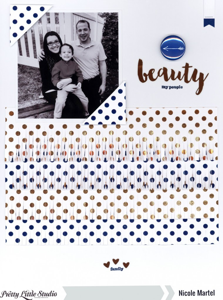 beauty family_Pretty Little Studio_Nicole Martel_Layout_Gold Mine Collection