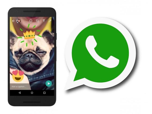 """واتس اب""""whatsapp"""" يتيح الكتابة والرسم على الصور والفيديوهات واضافة الايموشنز"""