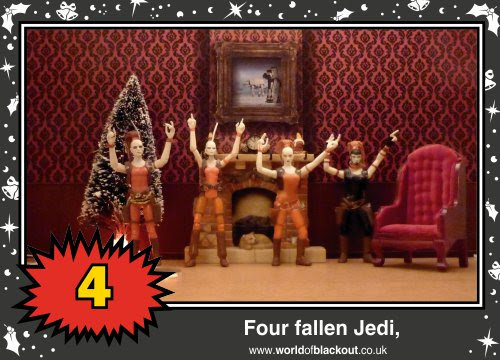 On the twelfth Wookiee Life Day, the Dark Side gave to me: Four fallen Jedi...