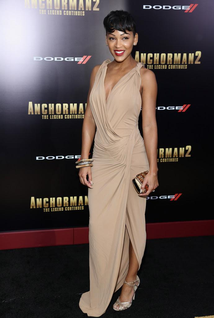 meagan-good-anchorman-2-new-york-premiere-donna-karan-dress-jimmy-choo-clutch-fitch-sandals