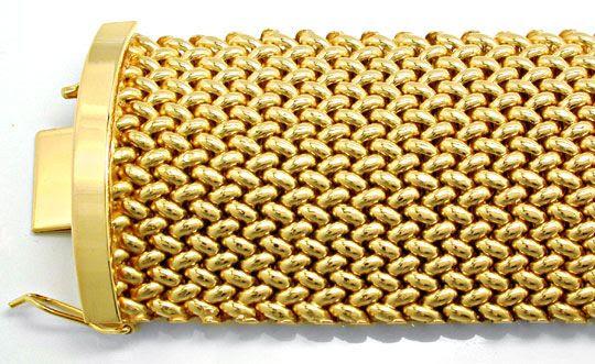 Foto 1, Gelbgold-Armband, Klassisches Topdesign 18K Luxus! Neu!, K2884
