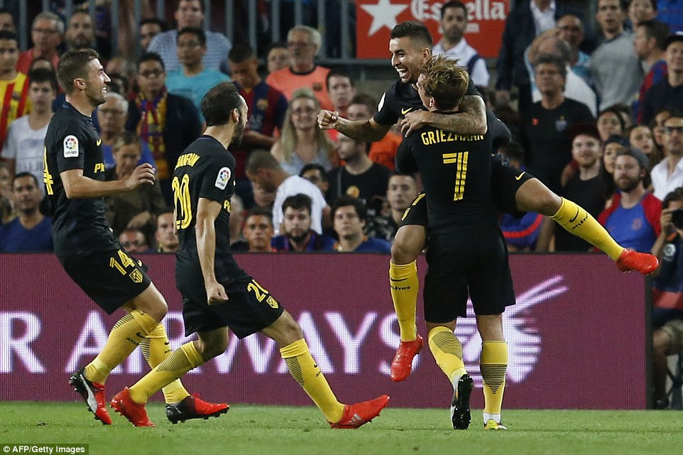 Messi's absence changed the game and allowed the visitors to equalise through Correa just minutes after coming on