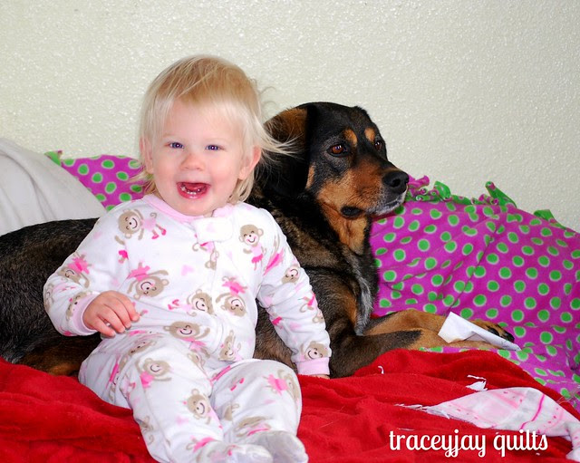 Scarlet and her doggie