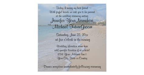 Today I Marry My Best Friend Beach Wedding Invitation