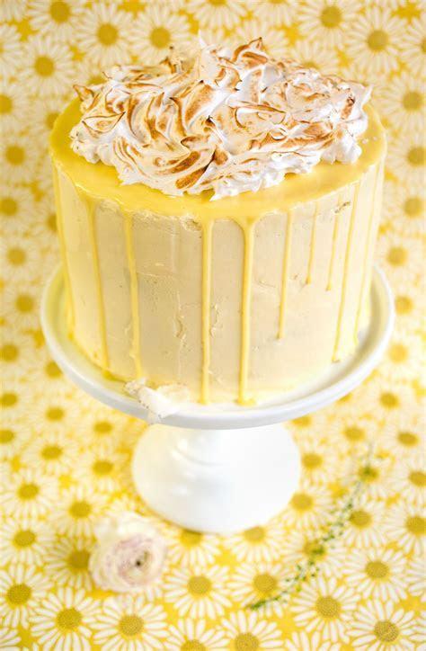 Lemon meringue layer cake with dripping ganache   my