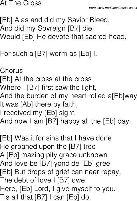 Lyrics To At The Cross